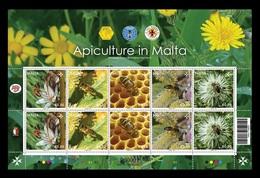 Malta 2019 Mih. 2094/98 Fauna. Bees. Apiculture In Malta (M/S) MNH ** - Malta