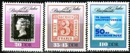 DDR - Mi 3329 / 3331 - ** Postfrisch (E) - 150 Jahre Briefmarken - Neufs