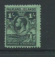 Falkland Islands  Sg122a Mnh George V On Bright Emerald - Falklandinseln