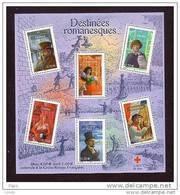 France Neuf Luxe ** Bloc N° 60 Croix Rouge Destinées Romanesques était Vendu 4.60€ Par La Poste Lot Vendu Sous Faci - Blocs & Feuillets