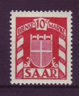 Saarland D 33 Dienstmarke 10 C Postfrisch  - Sin Clasificación