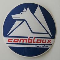 Autocollant-Combloux-Mont-Blanc-vintage-retro-stickers Miniature 1 Autocollant-Combloux - Sports