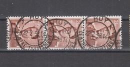COB 1028 En Bande De Trois Oblitération Centrale Touristique HUY 1 - 1953-1972 Lunettes
