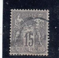 France - Sage, Type I - N°YT 66 - 15c Gris - Oblit CàD - 1876-1878 Sage (Type I)