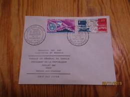 Enveloppe 1er Jour Saint-Pierre Et Miquelon Poste Aérienne Anniversaire Voyage Du Général Degaulle 1967 - Oblitérés