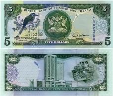 TRINIDAD & TOBAGO     5 Dollars      P-47a       2006      UNC - Trinidad Y Tobago