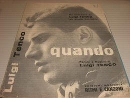 SPARTITO LUIGI TENCO QUANDO - Scores & Partitions