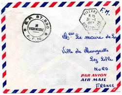 VILLARS (Constantine) Bureau Auxiliaire è Lettre En Franchise Militaire - 1957 - Algérie (1924-1962)