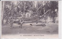 Pondichery. Moulin à Coprah. Dos Adresse. Non écrite. Messagerie Maritime. TBE - India