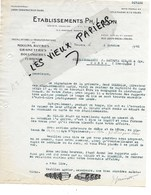 37 - Indre-et-loire - TOURS - Facture LAFON - Installations Et Transformations De Moulins, Rizeries - 1941 - REF 124B - France
