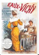 Carte Publicitaire éditions CLOUET - Eau De Vichy - Sources Elisabeth & Ste Marie - CUSSET - Reclame
