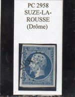 Drôme - N° 14A Obl PC 2958 Suze-la-Rousse - 1853-1860 Napoléon III