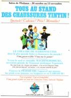 """PUB CHAUSSURES Et MARIONNETTES   """" TINTIN """" 1966  (1) - Livres, BD, Revues"""