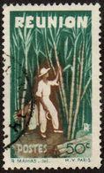 Réunion Obl. N° 265 - Détail De La Série émise En 1947 - 50c Vert Et Brun - Réunion (1852-1975)