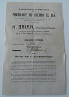Lot Curiosité Analyse D'urine Chemin De Fer Charbonnage Métallurgie Vintage 1917 WWI - Ohne Zuordnung
