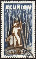 Réunion Obl. N° 266 - Détail De La Série émise En 1947 - 60c Bleu Et Brun - Réunion (1852-1975)