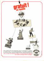 """PUB MOBILES """" TINTIN """" 1966 (1A) - Livres, BD, Revues"""