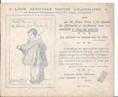 BUVARD  Ligue Nationale Contre L'Alcoolisme  Mars 1903 Petits Français - Löschblätter, Heftumschläge