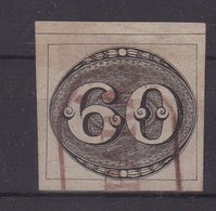 "BRESIL : N° 2 . OBL . "" GRAMPARA "" . BRUN ROUGE ENCADREE . TTB . 1843 .  ( CATALOGUE YVERT ) . - Gebraucht"