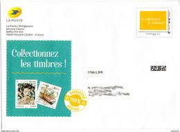 """PAP  Philaposte International 250g Sur Enveloppe De La Poste """"Je Colectionne Je M'abonne !"""" 240832 - Postwaardestukken"""