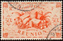Réunion Obl. N° 236 - Détail De La Série De LONDRES - Productions - 30c Orange - Réunion (1852-1975)