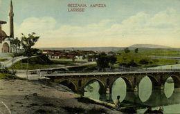 Greece, LARISSA Λάρισα, Partial View With Bridge And Mosque (1910s) Postcard - Griechenland