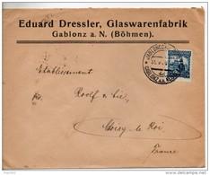 Boheme. Enveloppe. Eduard Dressler, Glaswarenfabrik. Gablonz A. N. - Tschechoslowakei/CSSR