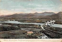 Wales Menai Straits From Llanfair, Llanfairpwllgwyngyll Panorama 1905 - Anglesey