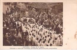 Catania - Festa Di S. Agata Provinciale Dell'economia Corporativa Italy Italia Vintage Postcard - Catania