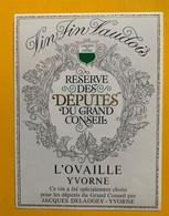 12289 -  Réserve Des Députés Du Grand Conseil Vaudois Suisse - Politica (vecchia E Nuova)