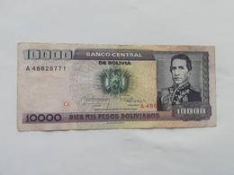 BOLIVIA 10000 PESOS BOLIVIANO 1962 - Bolivie