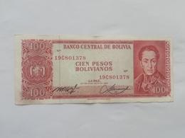 BOLIVIA 100 PESOS BOLIVIANO 1962 - Bolivia