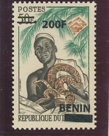 Bénin 2008  ( Python & Féticheur - 200F/50F )  ** Luxe TRES RARE - Benin – Dahomey (1960-...)