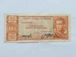 BOLIVIA 50 PESOS BOLIVIANO 1962 - Bolivie