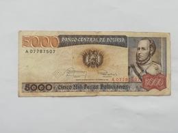 BOLIVIA 5000 PESOS BOLIVIANO 1984 - Bolivia
