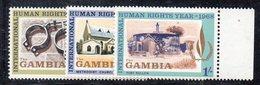 XP2880 - GAMBIA 1968 , Serie Yvert N. 228/230  ***  MNH (2380A)  Diritti Umani Human - Gambia (1965-...)