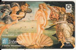 ITALY - The Birth Of Venus, Painting/S.Botticelli, Intercall Prepaid Card 10000L/5.16 Euro, Tir 5200, E.d.30/06/0, Mint - Italie