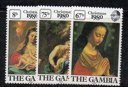 XP2882 - GAMBIA 1980 , Serie Yvert N. 416/418  ***  MNH (2380A)  Natale Christmas - Gambia (1965-...)