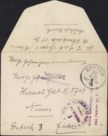 Guerre 14 Prisonnier Allemand CAD Speyer 20 Au 18 Censure Gepruft + Dépôt PG Nîmes + Enveloppe Pas Remise Au PG - Oorlog 1914-18