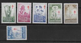 FINLANDE - 1958/9 - FAUNE ET FLORE - SERIES COMPLETES ANTITUBERCULOSE - YVERT N°472/474 + 486/488 ** MNH COTE = 24.5 EUR - Ungebraucht