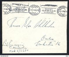 Finnland, Kenttäposti, Beleg Von 1942, Stempel Kenttäposti - Covers & Documents