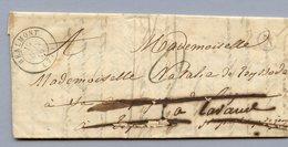 LETTRE OB REALMONT 19/6/1849 AU VERSO:  CASTRES S L'AGOUT 19/6/1849 - ST Paul Cap De Joux - Marcophilie (Lettres)