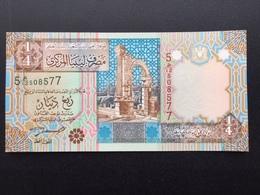 LIBYA P62 1/4 DINAR 2002 UNC - Libia