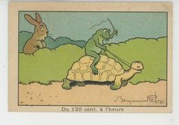 """Illustrateur BENJAMIN RABIER - Lapin Tortue Et Grenouille """"Du 120 Cent. à L'heure """"- Pub Pour Pommade & Dépuratif ULTIMA - Rabier, B."""