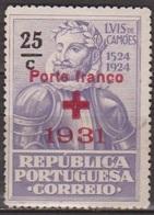 Croix Rouge - PORTUGAL - Camoes - Franchise - N° 49 * - 1931 - Neufs