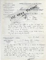 52 - Haute-marne - CHAUMONT - Facture FOUILLOUX - Scierie, Manufacture De Sièges, Bois - 1930 - REF 124B - 1900 – 1949
