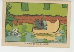 """Illustrateur BENJAMIN RABIER - Rat Dans Sabot & Poisson """"Un Voyage En Gondole""""- Pub Pour PHOSPHATE VITAL De JACQUEMAIRE - Rabier, B."""