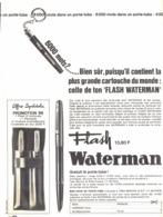 "PUB STYLO  "" WATERMAN  ""  1966 ( 32 ) - Pens"