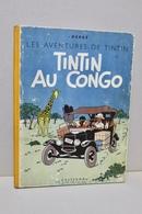Tintin Au Congo - Casterman - Dos Jaune - B1 - 1946 - Titre En Blanc  - 1ère édition Originale Couleur  - Bon état - Tintin