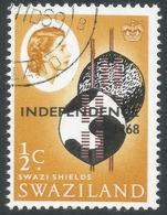 Swaziland. 1968 Independence O/P. ½c Used. SG 142 - Swaziland (1968-...)